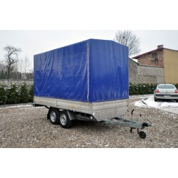 Przyczepa plandeka RYDWAN - DMC 2500 kg, ładowność 1940 kg